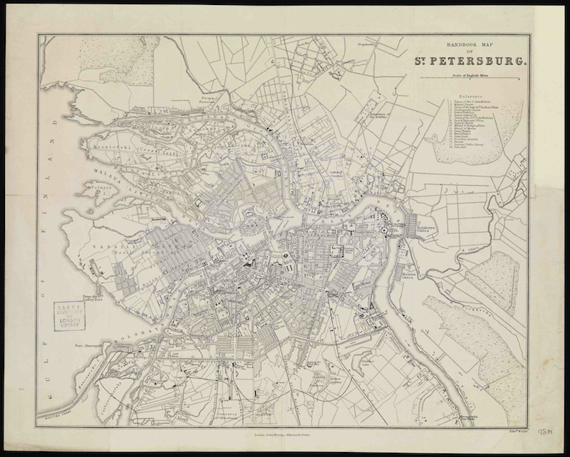 Map of Saint Petersburg 1888