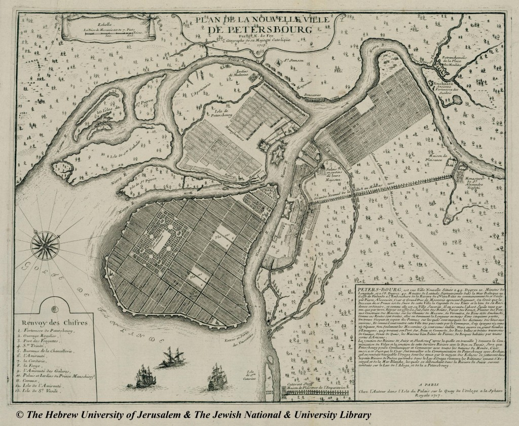 Nicolas De Fer plan of St Petersburg 1717